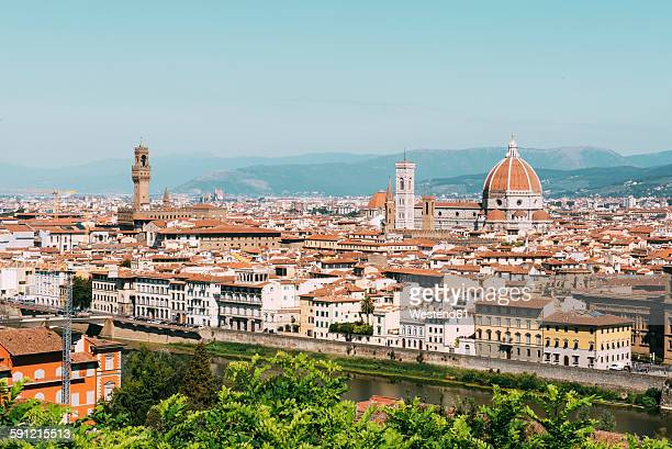 Italy, Florence, cityscape from Piazzale Michelangelo viewpoint