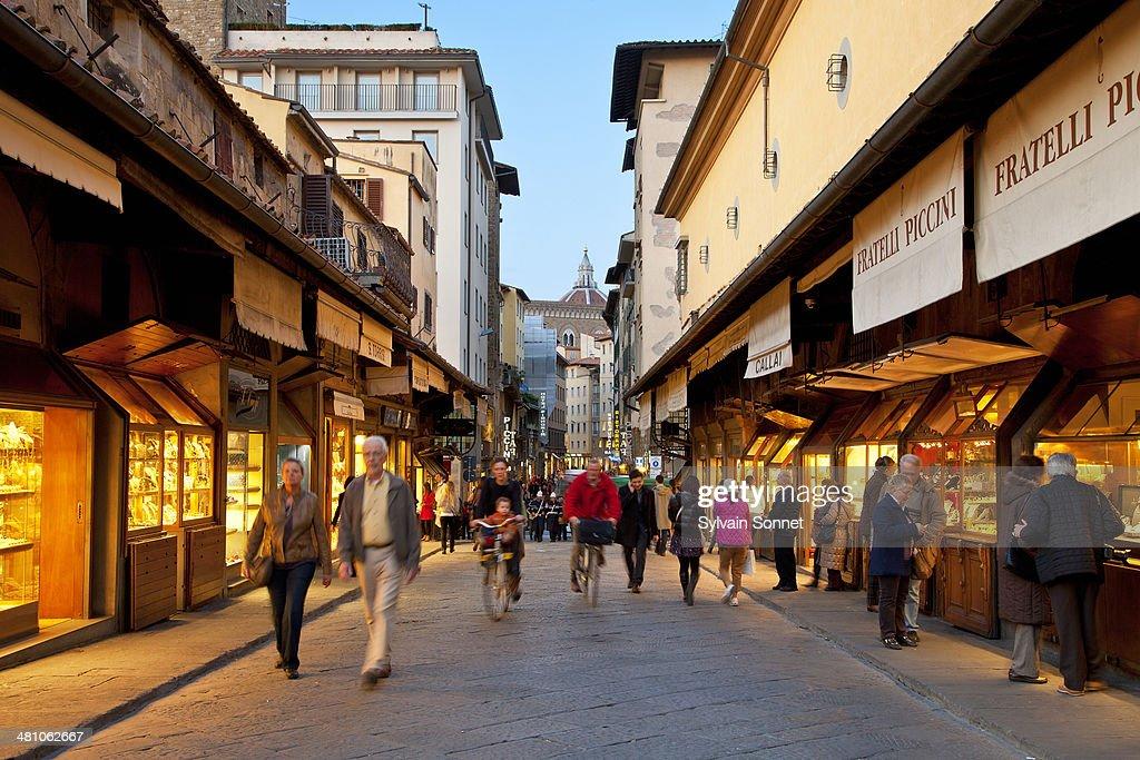 Italy, Florence,  Jeweller's Shop on Ponte Vecchio