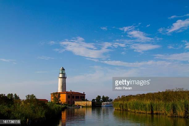 Italy, Goro, Po Delta, lighthouse of Bacucco