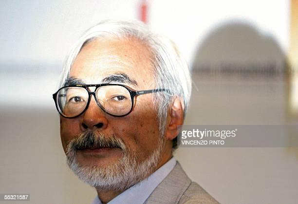 Hayao Miyazaki of Japan poses for a photocall at the Lido 09 September 2005 during the 62nd Venice International Film Festival Miyazaki will receives...