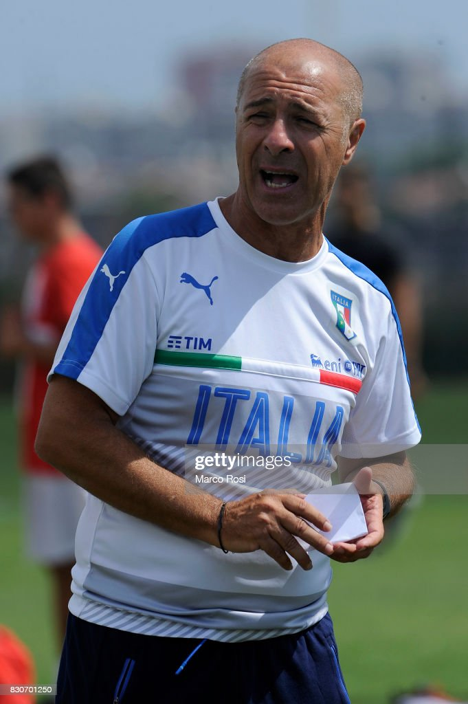 Italy head coach Alessandro Musicco during the frienldy match between Italy University and ASD Audace on August 12, 2017 in Rome, Italy.