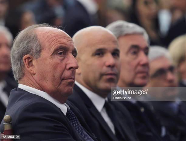 Italy head coach Giampiero Ventura attends the Italian Football Federation press conference ' Il calcio Aiuta' on May 18 2017 in Rome Italy