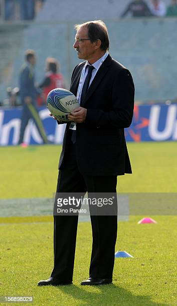Italy head coach Jacques Brunel looks on during the international rugby test match between Italy and Australia at Artemio Franchi on November 24 2012...