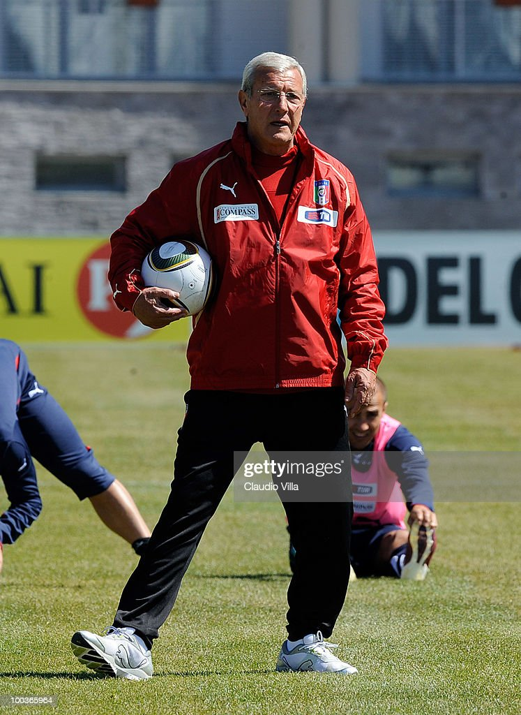 Italy Head Coach Marcello Lippi during the Italy Training Session on May 24, 2010 in Sestriere near Turin, Italy.