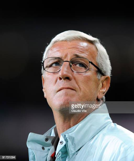 Italy Head Coach Marcello Lippi looks on during the FIFA 2010 World Cup Group 4 Qualifying match between Republic of Ireland and Italy at Croke Park...