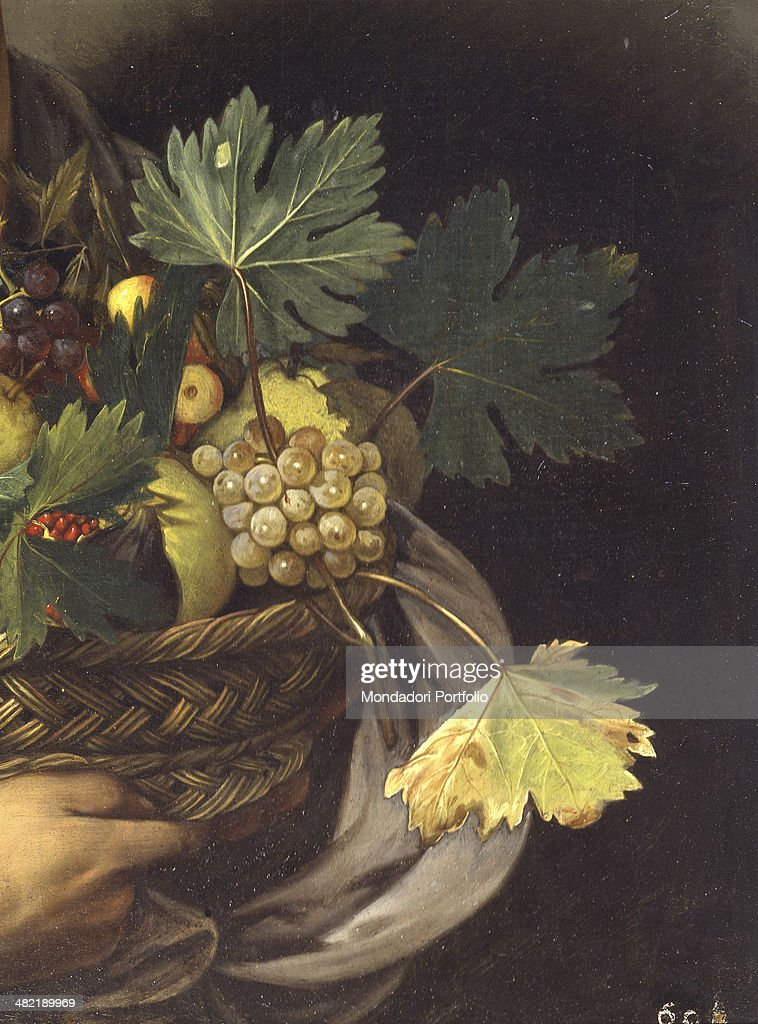 Italy, Lazio, Rome, Borghese Gallery. Detail. Basket woth fruit