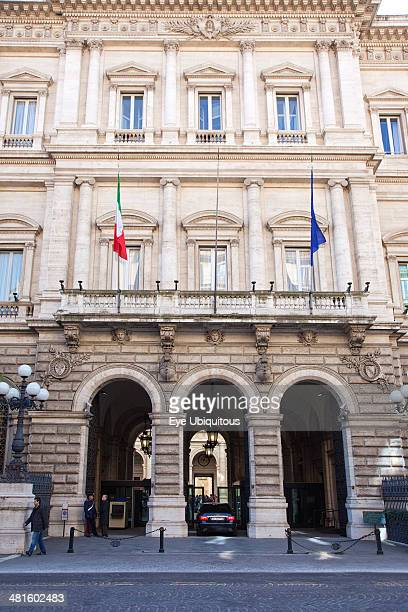 Italy Lazio Rome Palazzo Koch home to the Banca DItalia on Via Nazionale