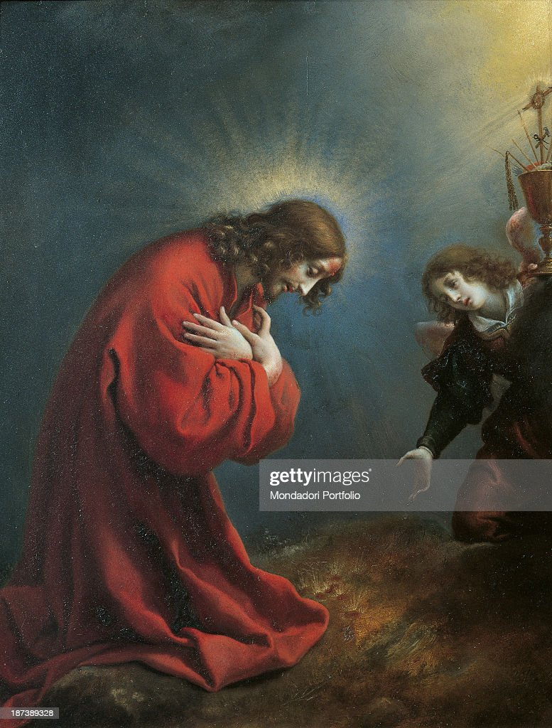 Jesus Praying In The Garden Of Gethsemane Stock Photos and