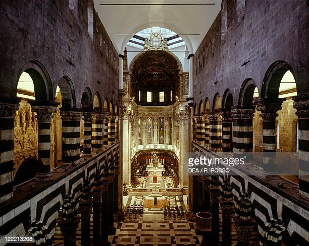 Italy Liguria region Genoa Cathedral of Saint Lawrence Interior