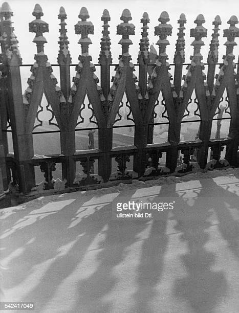 Italy Lombardia Milano Part of the roof of Milan Cathedral in the winter undated probably 1934 Photographer Alfred Eisenstaedt Vintage property of...