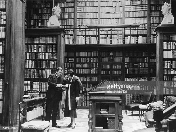 Italy Lombardia Milano Private library in the palace of the Marchese Melzi di Soragna 1933 Photographer Alfred Eisenstaedt Vintage property of...