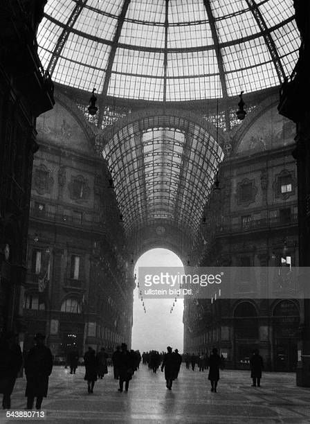 Italy Lombardia Milano The Galleria Vittorio Emanuele view from inside around 1930 Photographer Hans G Casparius Published by 'Der Querschnitt'...