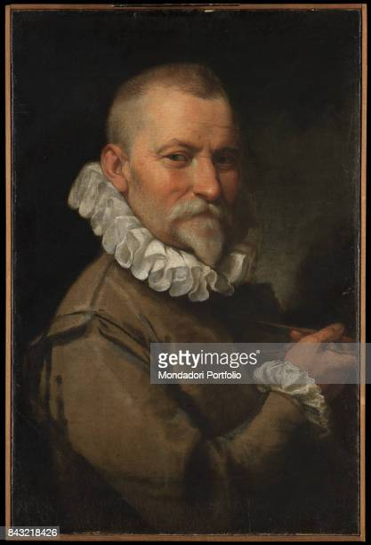 Italy Lombardy Milan Brera Art Gallery Whole artwork view Portrait of Swiss architect Domenico Fontana holding a compass