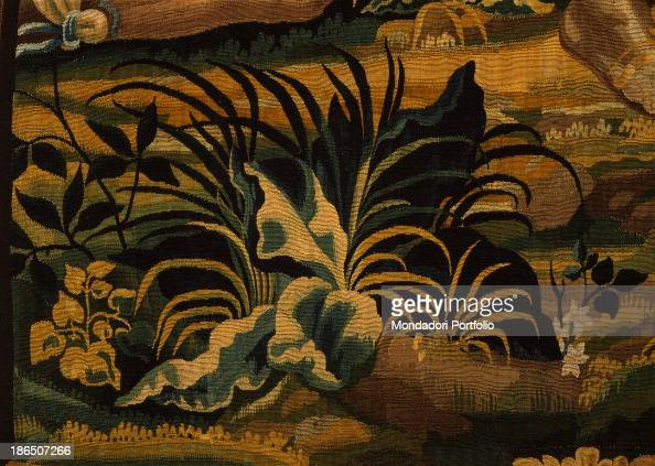 Italy Lombardy Milan Castello Sforzesco Civic Collections of Applied Art Detail This tapestry is part of a series of six four intact and three...