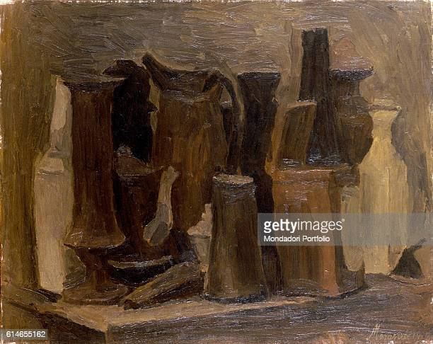 Italy Lombardy Milan Museo del NovecentoComposition with bottle jug vase and teapot
