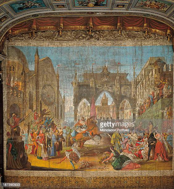 Italy Marche Jesi Teatro Pergolesi All View of the town of Jesi during the celebration for the entrance of Emperor Frederick II The emperor is in the...