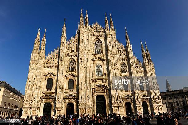 Italy Milan Cathedral Gothic 14th century Exterior Facade