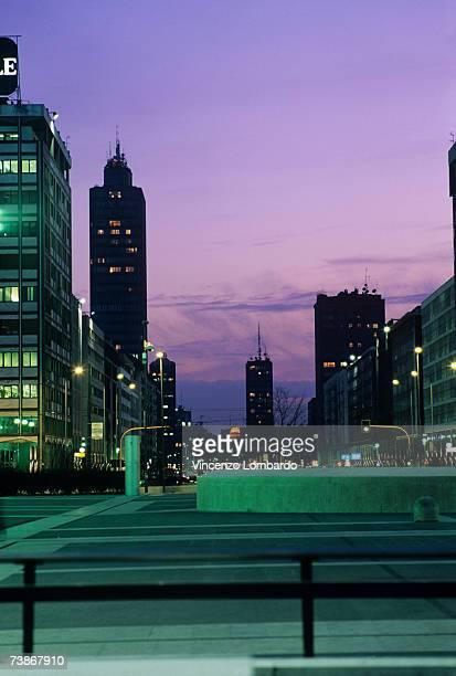 Italy, Milan, cityscape at night