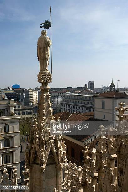 Italy, Milan, Duomo di Milano, Madonnina statue on cathedral spire