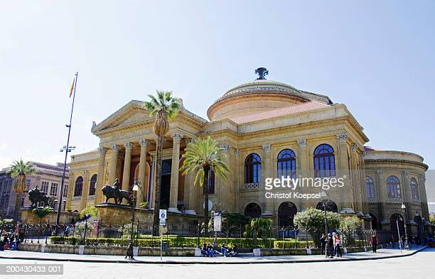 Italy, Palermo,  Piazza G. Verdi, Theatre Massimo
