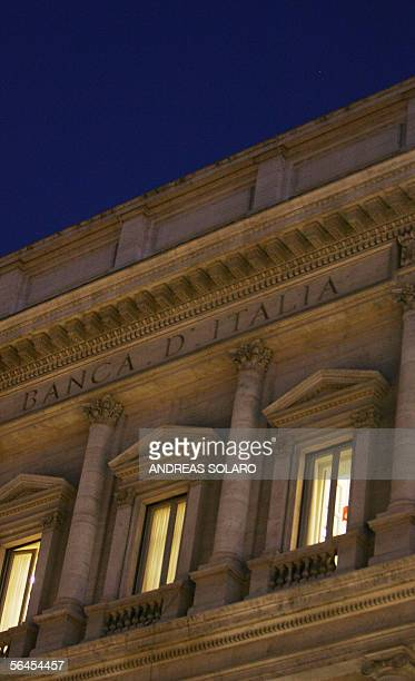 Picture taken 19 december 2005 of the Bank of Italy headquarter building in Rome The governor of the Bank of Italy Antonio Fazio implicated in a...