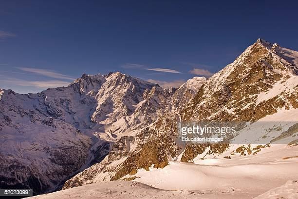 Italy Piedmont Macugnaga View from Monte Moro Monte Rosa