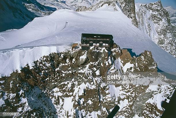 Italy Piedmont Region Pennine Alps Valsesia Monte Rosa Massif Regina Margherita Hut on Punta Gnifetti