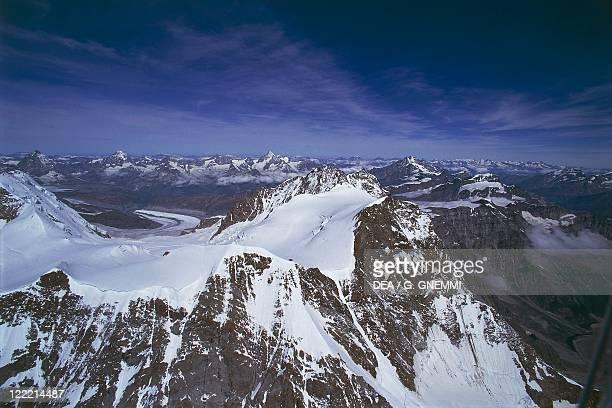 Italy Piedmont Region Pennine Alps Valsesia The town of Macugnaga side of Monte Rosa Massif