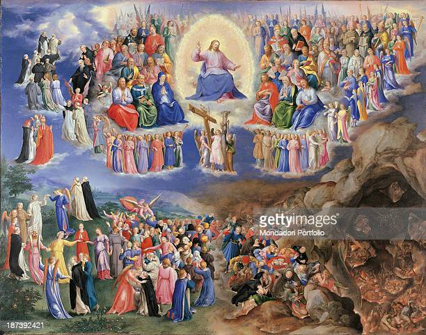 Italy Piedmont Turin Galleria Sabauda All Jesus Christ sends sinners' damned souls to Hell for the torture and chosen souls to Paradise Beside him...
