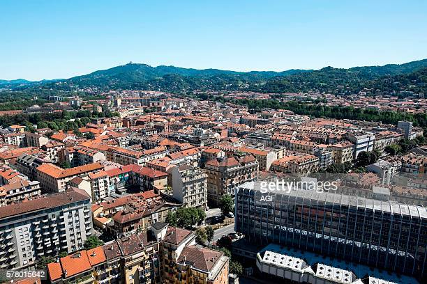 Italy Piedmont Turin Panorama View of the City from the Mole Antonelliana Bg Superga Hill