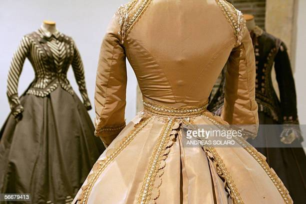 Piero Tosi's costumes weared in 'Ludwig' by Italian director Luchino Visconti during an exhibition of theatre and cinema costumes created by italian...