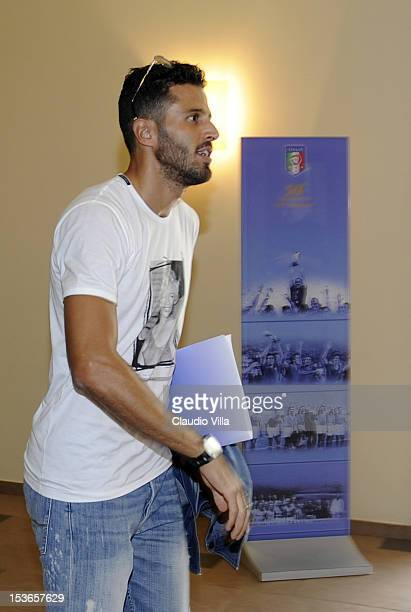 Italy player Fabio Grosso attends UEFA Pro Licence Master at Coverciano on October 8 2012 in Florence Italy
