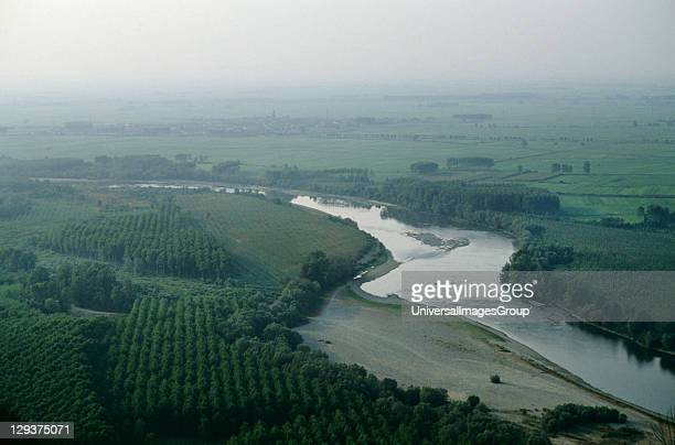 Italy Po Delta Camino Village Vicinity Vercelli For Most Of Its Length The River Po Flows Across An Intensely Cultivated Region During The Last Forty...