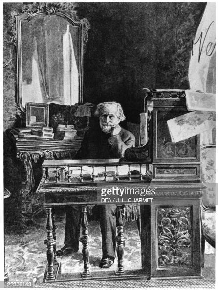 Italy Portrait of Giuseppe Verdi Italian composer 1900