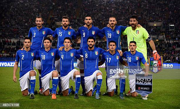 Italy pose prior to the UEFA EURO 2016 Qualifier between Italy and Norway on October 13 2015 in Rome Italy