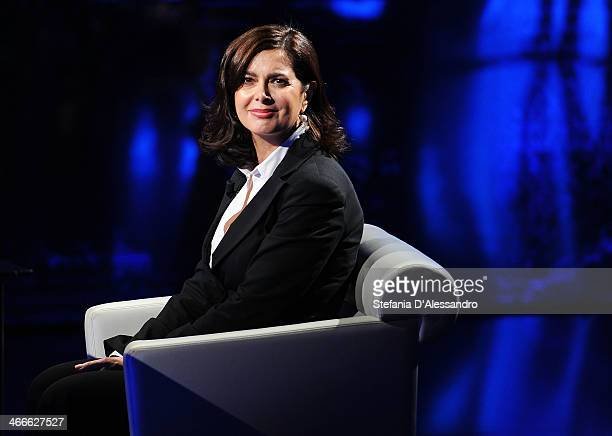 Italy President of the Chamber of Deputies Laura Boldrini attends 'Che Tempo Che Fa' Italian TV Show on February 2 2014 in Milan Italy