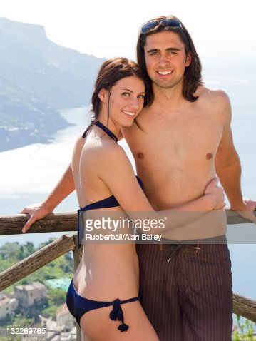 Italy, Ravello, Outdoor portrait of smiling couple  : Stock Photo