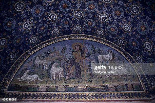 Italy Ravenna Mausoleum Of Galla Placidia 425 Ad Mosaic Of The Good Shepherd