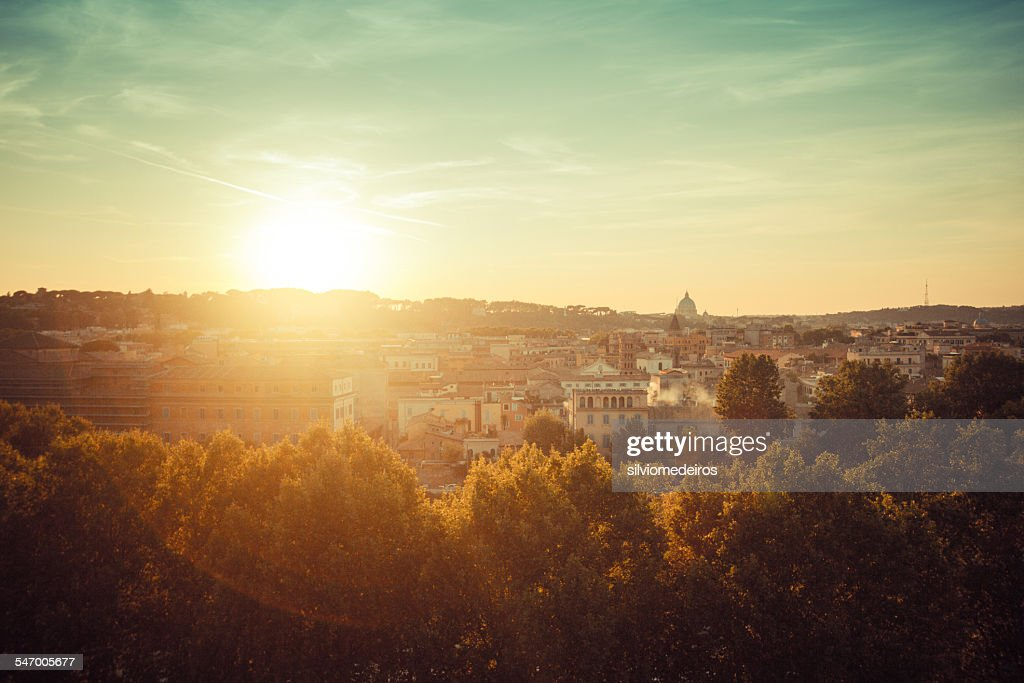 Italy, Rome, Cityscape at sunset
