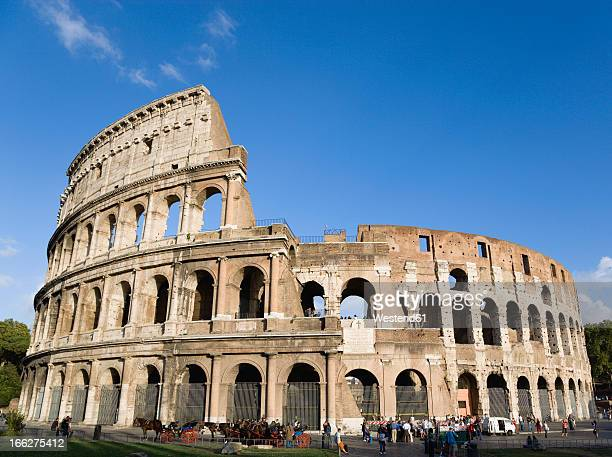 Italy, Rome, Colosseum and tourists