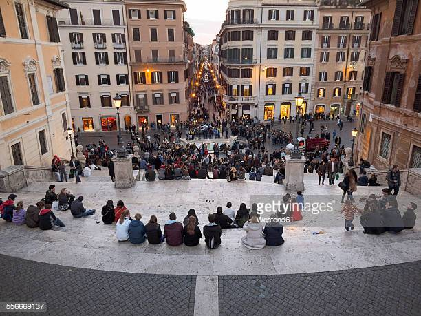 Italy, Rome, People at Piazza di Spagna