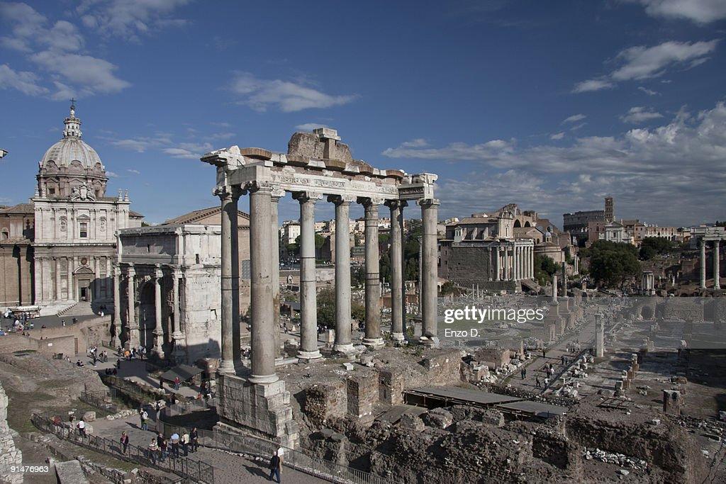 Italy, Rome, Roman Forum, Temple of Saturn