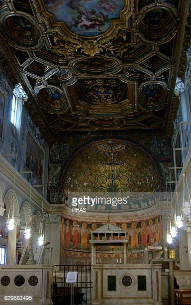 Italy Rome The Basilica of Saint Clement Church dedicated to Pope Clement I Founded in 4th century rebuilt in 12th century and rebuilt in 18th...
