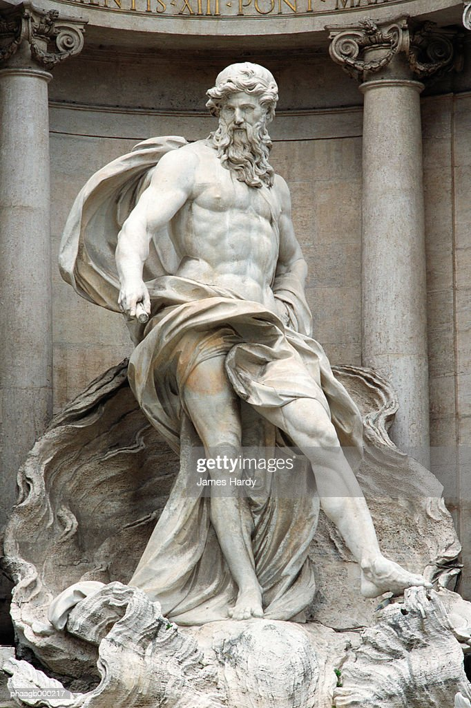Italy, Rome, Trevi Fountain, statue of Neptune : Stock Photo