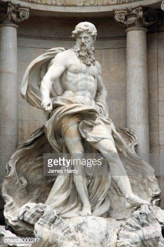 Italy, Rome, Trevi Fountain, statue of Neptune