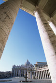 Italy, Rome, Vatican City, Piazza San Pietro, view through columns