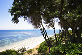 Italy, Sardinia, beach on south coast