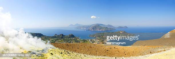 Italy, Sicily, Eolian Archipelago, Vulcano, panoramic view