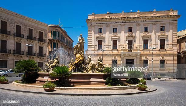 Italy, Sicily, Ortygia, Syracuse, Fountain of Artemis