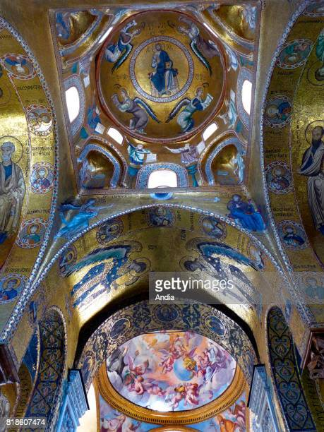 Palermo Inside the Palazzo dei Normanni the Cappella Palatina built in the XIIth century by and for King Roger II of Sicily Registered as a UNESCO...